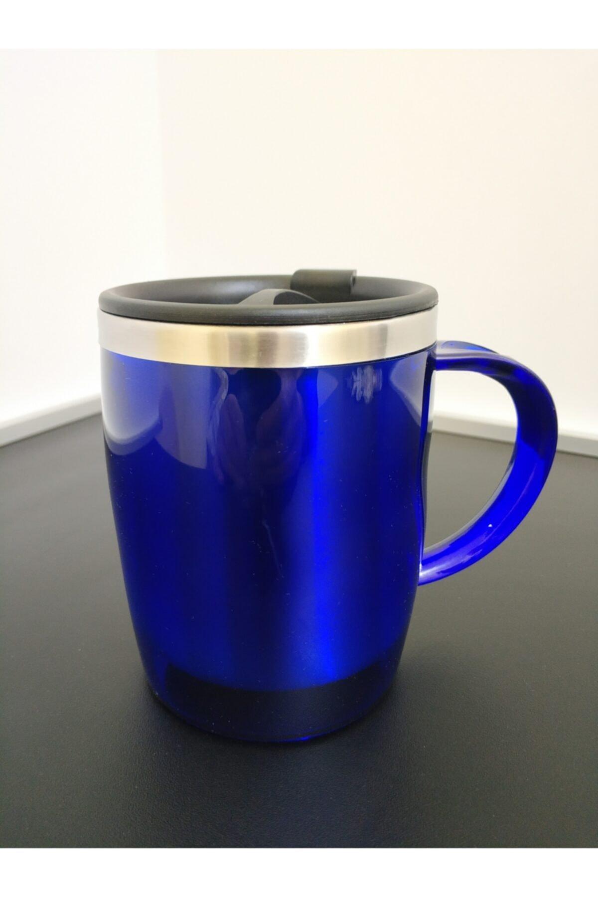 MODZİGO Mavi Renk Paslanmaz Çelik Kupa Bardak Termos Vakumlu 450 Ml 1