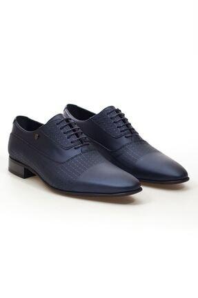 MARCOMEN Lacivert Sedefli Hakiki Deri Bağcıklı Erkek Klasik Ayakkabı • A20eymcm0020
