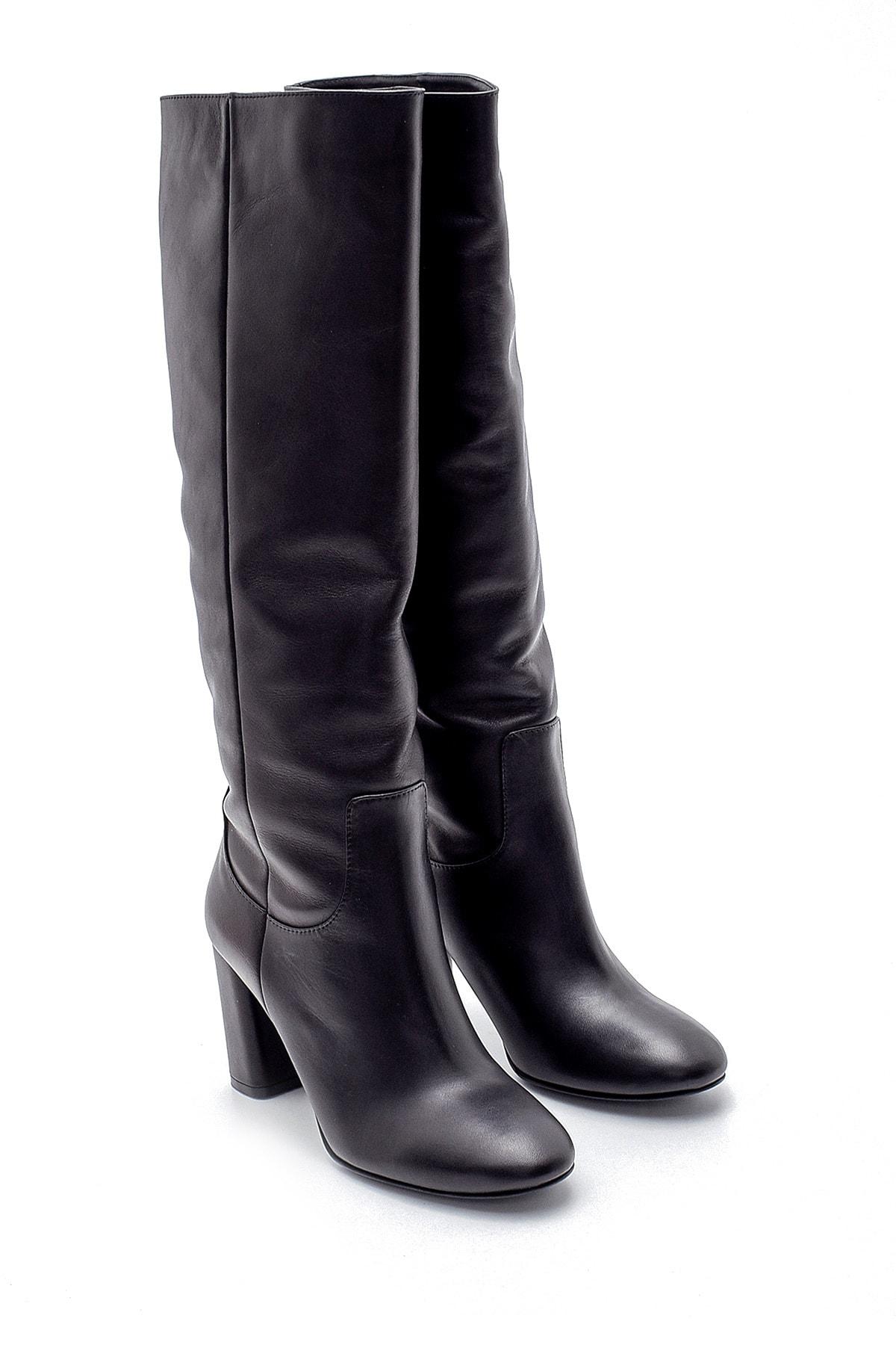 Derimod Kadın Deri Topuklu Çizme 2