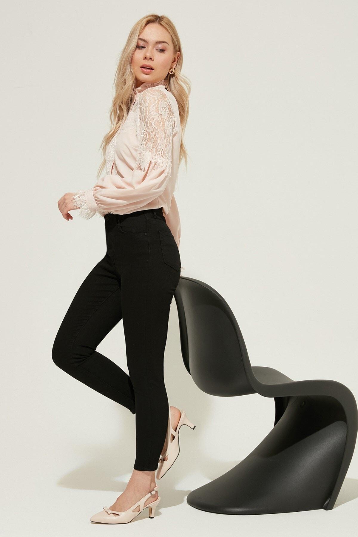 ZİNDİ Kadın Yüksek Bel Skinny Jeans Siyah 2