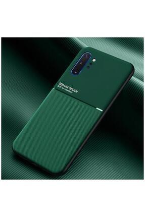 Dara Aksesuar Samsung Galaxy Note 10 Plus Kılıf Zebana Design Silikon Kılıf Yeşil