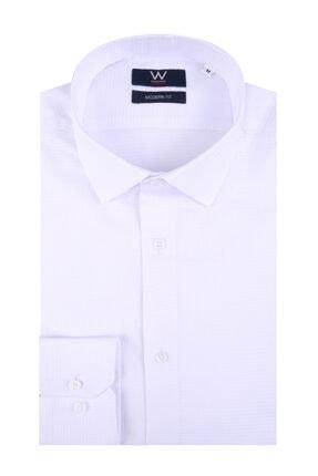W Collection Beyaz Spor Gömlek