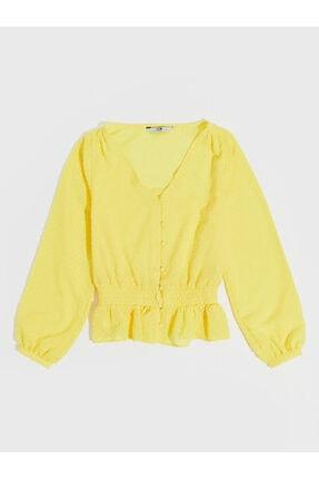LC Waikiki Kadın Sarı  Bluz