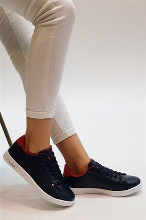 U.S POLO U.s. Polo Assn. Franco Kadın Laci Kırmızı Sneaker Ayakkabı V2