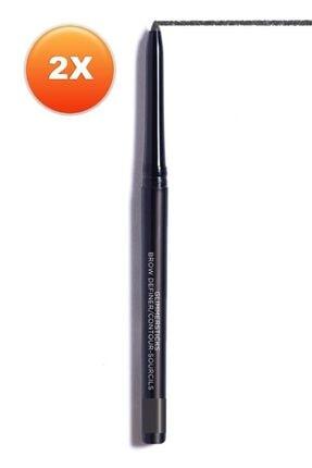 AVON Glimmersticks Açılıp Kapanabilen Kaş Kalemi Soft Black Ikili Set