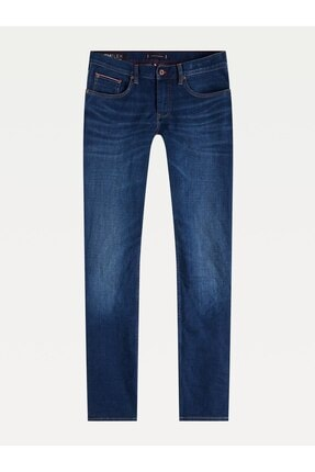 Tommy Hilfiger Erkek Lacivert Strght Denton Sstr Elgın Jeans