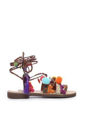 KEMAL TANCA Kadın Derı Sandalet Sandalet 607 3072 Byn Snd