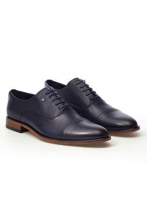 MARCOMEN Lacivert Hasır Detaylı Hakiki Deri Bağcıklı Erkek Klasik Ayakkabı • A20eymcm0023