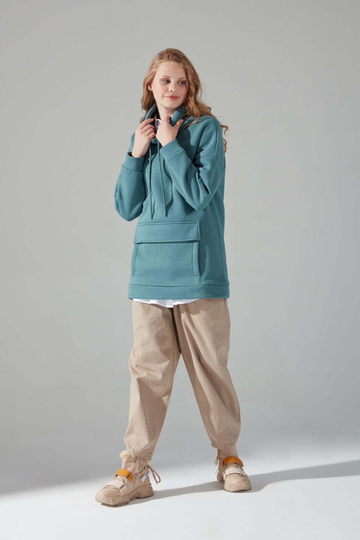 Mizalle Youth Üç Iplik Sweatshirt (Çağla) 1