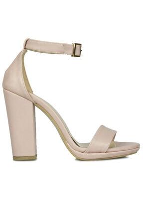 Fitbas 520011 719 Kadın Pudra Cilt Topuklu Büyük Küçük Numara Sandalet