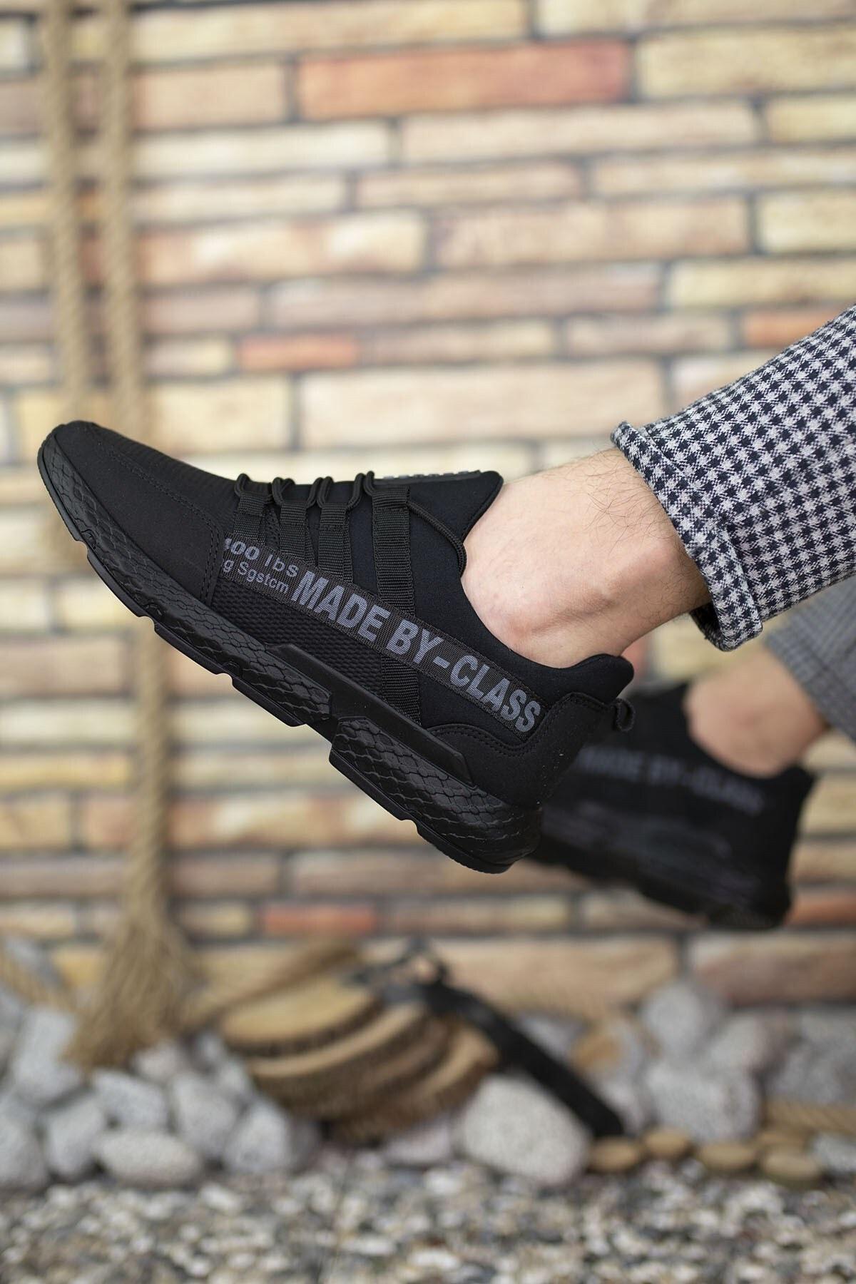 Riccon Siyah Erkek Cilt Sneaker 0012santo 2