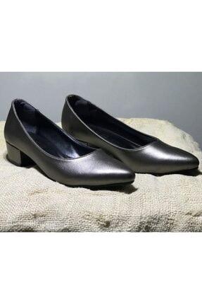 ayakkabıhavuzu Gri Kare Topuklu Ayakkabı