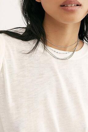 New Obsessions Gümüş Rengi Zincir Seti