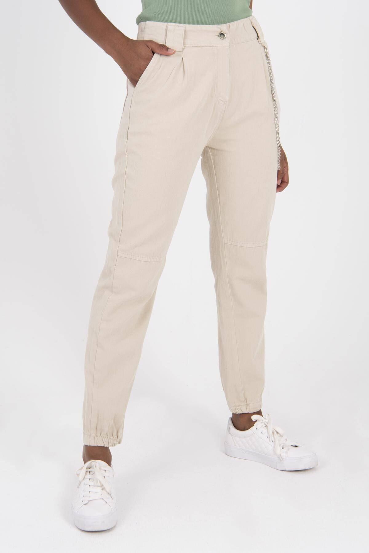 Addax Zincir Detaylı Pantolon Pn3974 - Pnr 1