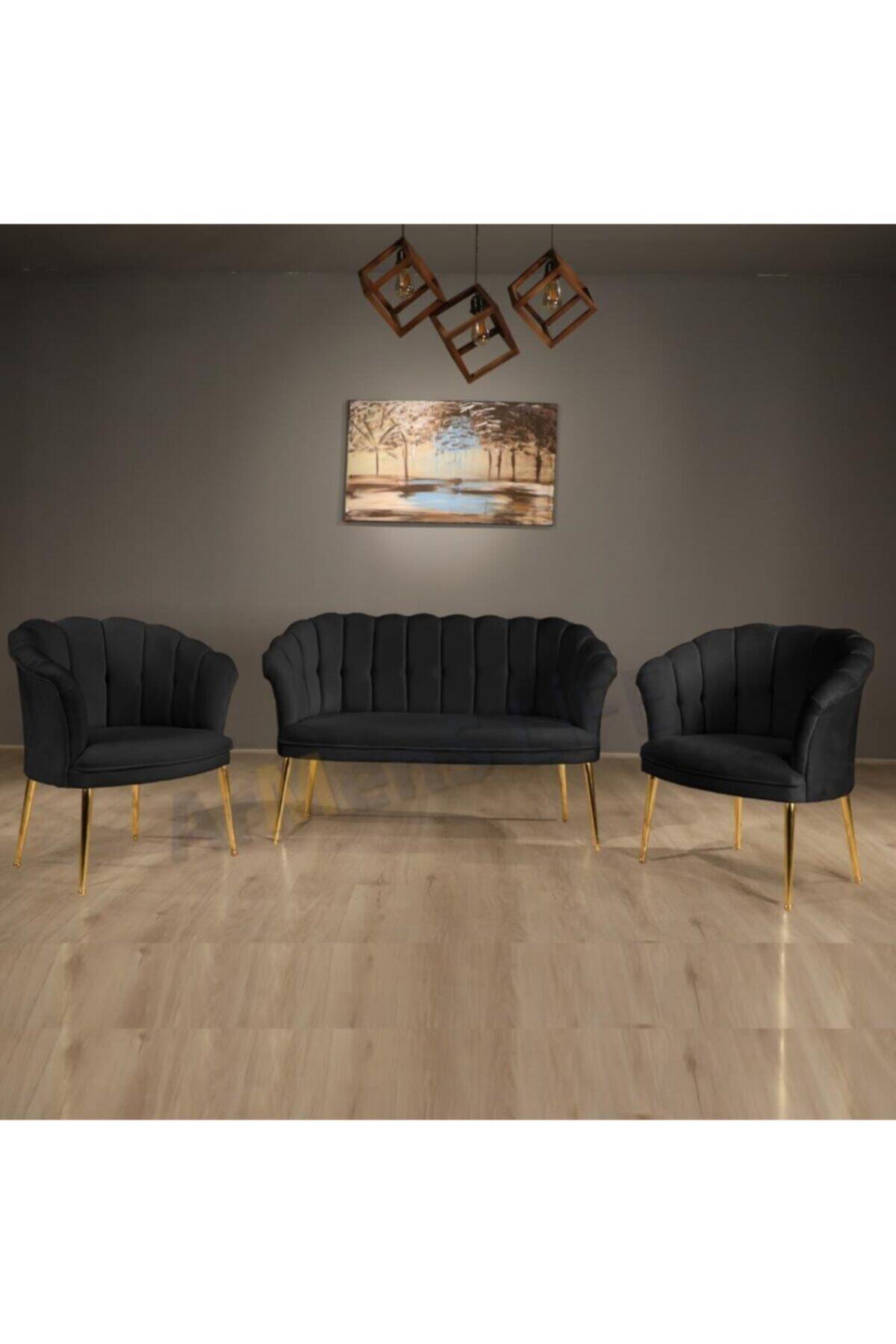 İndirim Çadırı Vinda Papatya Çay Seti Koltuk Takımı, Salon Balkon Takımı-2+1+1 1