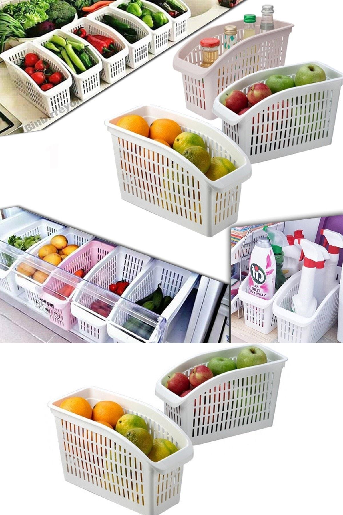 Meleni Home 6'lı Buzdolabı Içi Düzenleyici Sebze Meyve Düzenleyici Dolap Içi Organizer 1