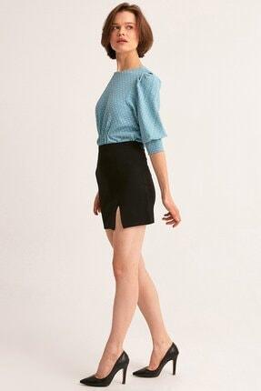 Fulla Moda Yırtmaçlı Mini Etek