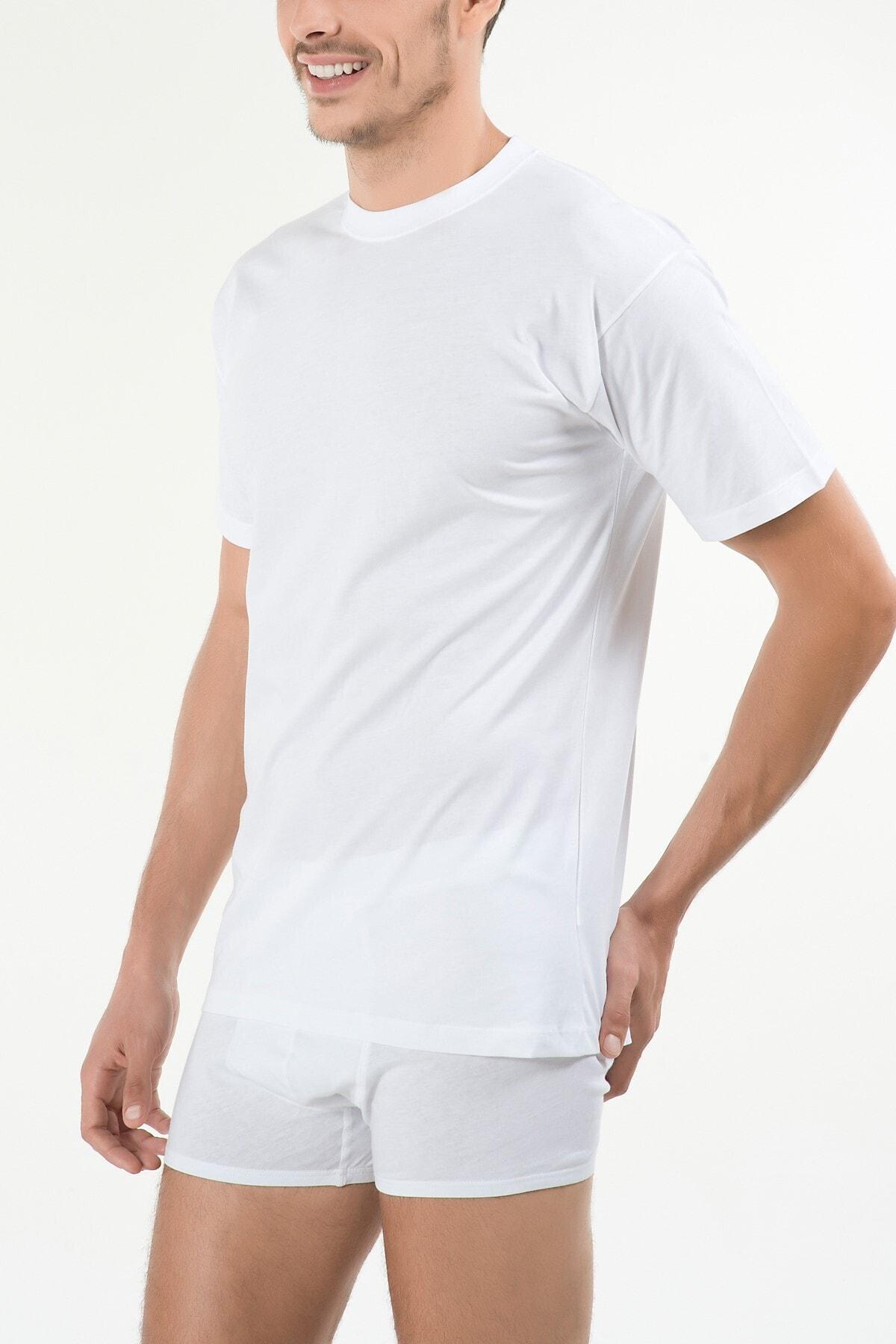 Kom Erkek Beyaz Eduardo 2'li T-shirt 44ts10031beya 1