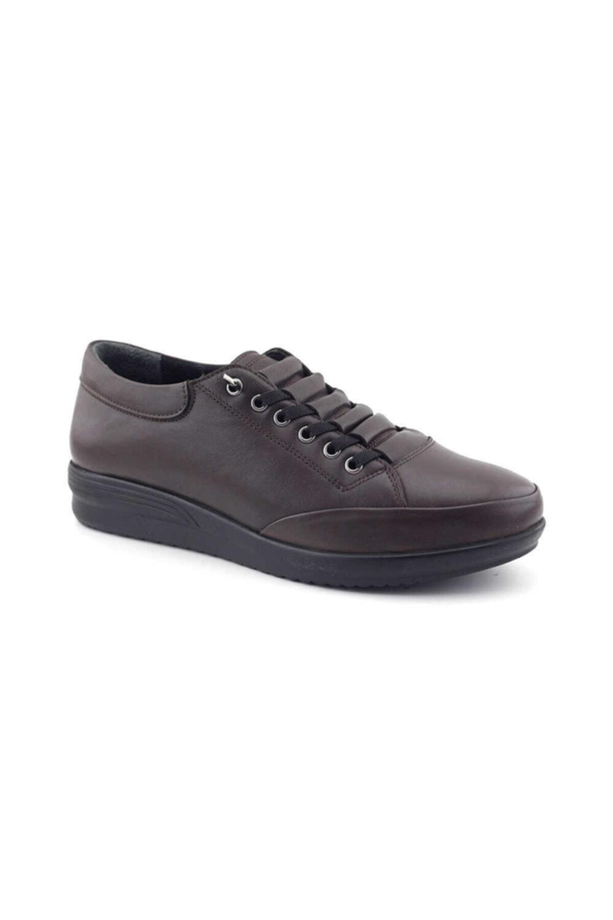 Kayra 05 Hakiki Deri Kadın Günlük Ayakkabı-kahverengi 2