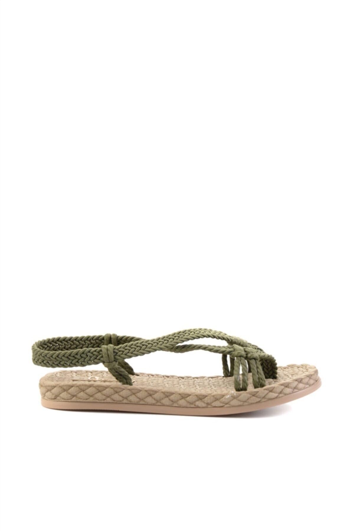 Bambi Haki Kadın Sandalet L0823150099 2
