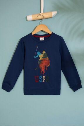 U.S. Polo Assn. Lacıvert Erkek Çocuk Bury Sweatshirt