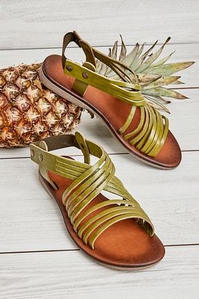 Bambi Yeşil Kadın Sandalet L0685222203