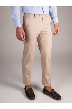 Dufy Bej Düz Kalın Iplik Erkek Pantolon - Regular Fıt