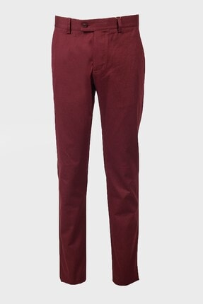 Jakamen Bordo Ekstra Extra Slim Fit Pantolon Yan Cep