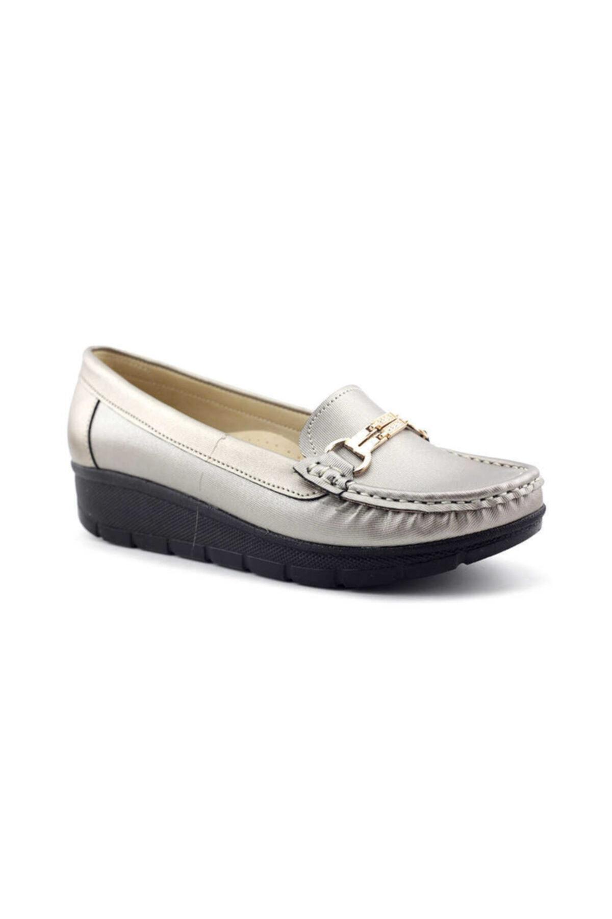 PUNTO 572107 Kadın Günlük Ayakkabı-platin 2