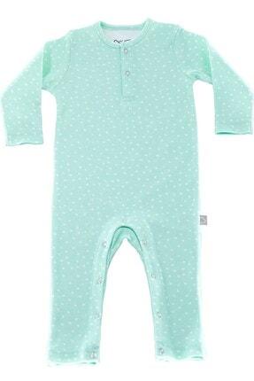 Boumini Unisex Bebek Mint Uzun Kollu Çıtçıtlı Tulum