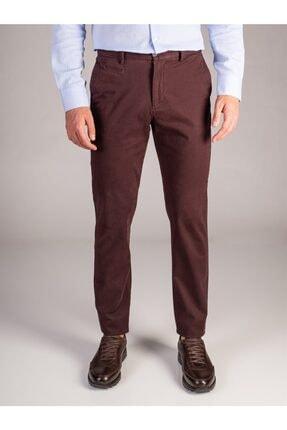 Dufy Bordo Düz Erkek Pantolon - Regular Fıt