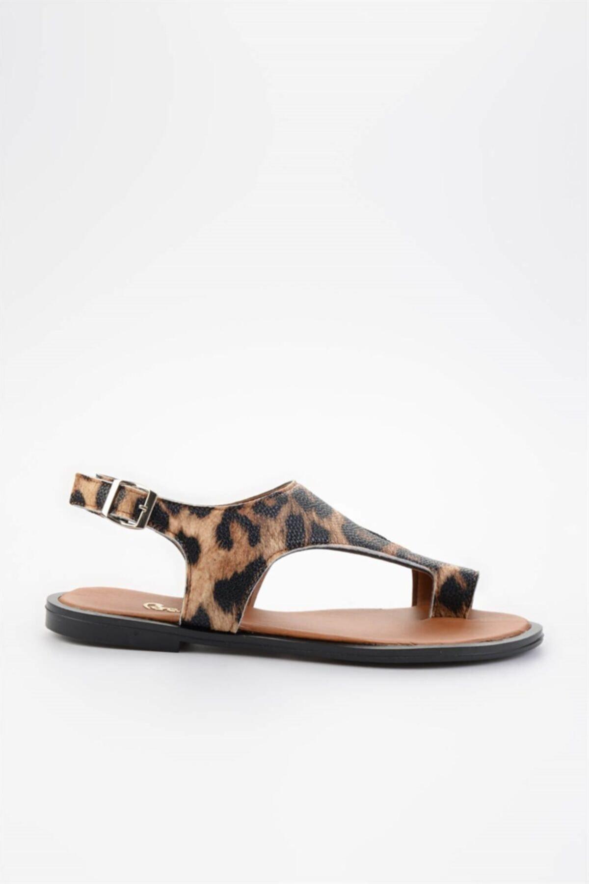 Bambi Leopar Kadın Sandalet L0835121009 1