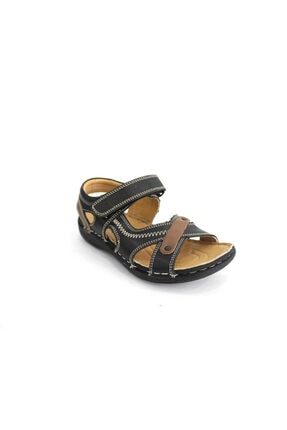 Toddler P7020 Patik Erkek Çocuk Sandalet-siyah