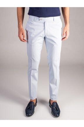 Dufy A.mavi Düz Erkek Pantolon - Slım Fıt