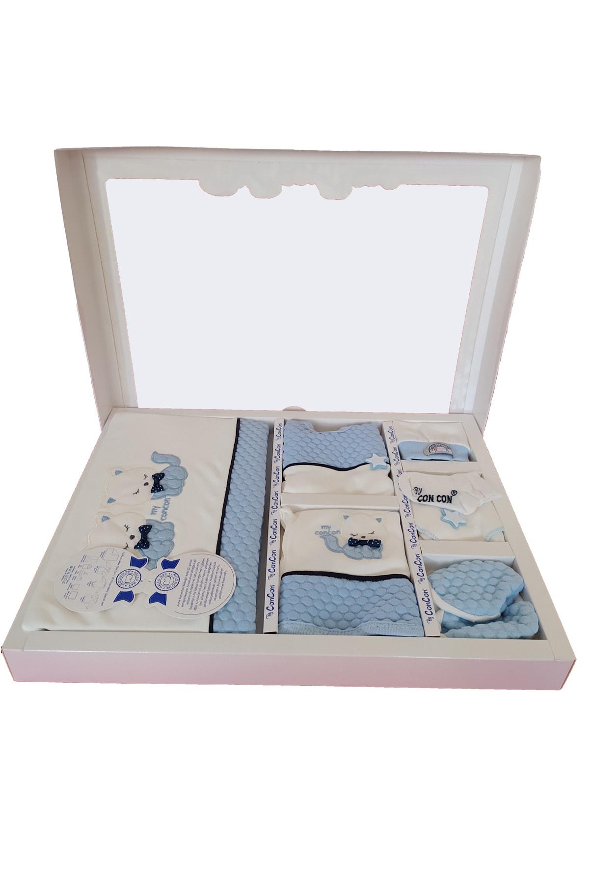 TangModa Yeni Doğan Mavi 0 Ila 3 Ay Hediyelik Erkek Bebek Kıyafeti 10 Parça Hastane Çıkışı 1