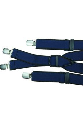 KemerSepeti Lacivert Renkli Dört Klipsli Pantolon Askısı