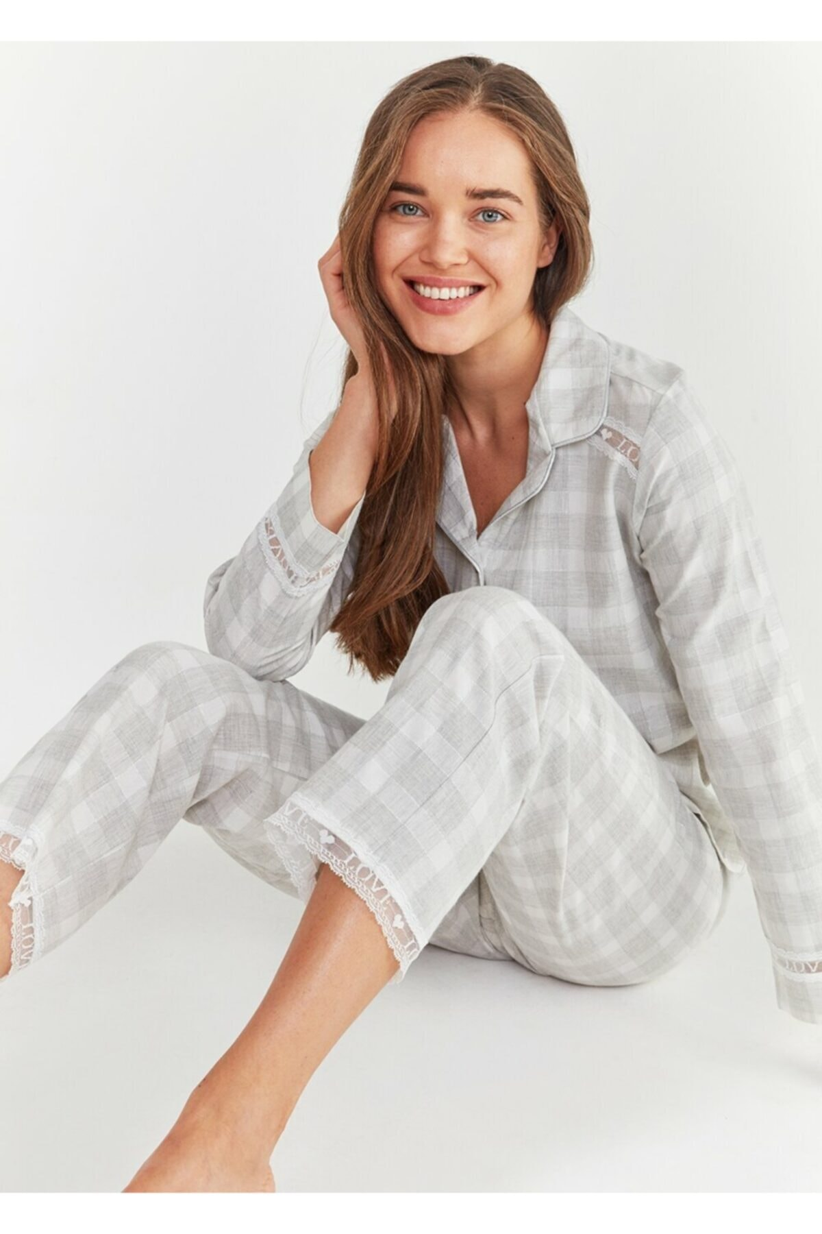 SUWEN Sofia Maskulen Pijama Takımı 1