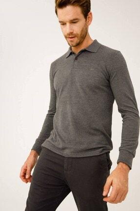 İgs Erkek Antrasit Standart Polo Yaka Sweatshirt