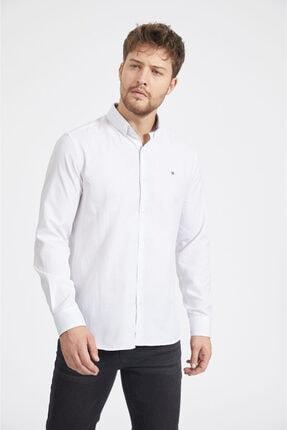 Avva Erkek Beyaz Oxford Düğmeli Yaka Slim Fit Gömlek A02b2287