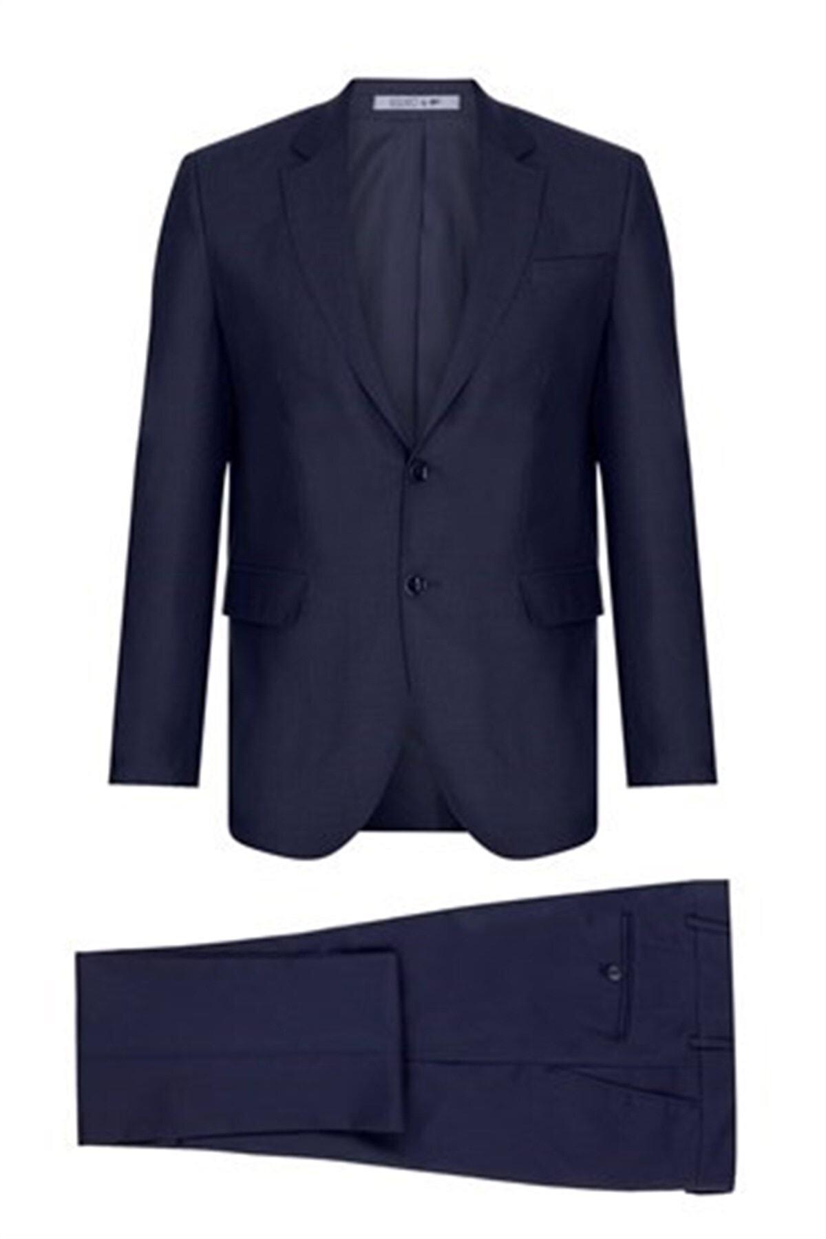 İgs Erkek Lacivert Slım Fıt / Dar Kalıp Std Takım Elbise 1