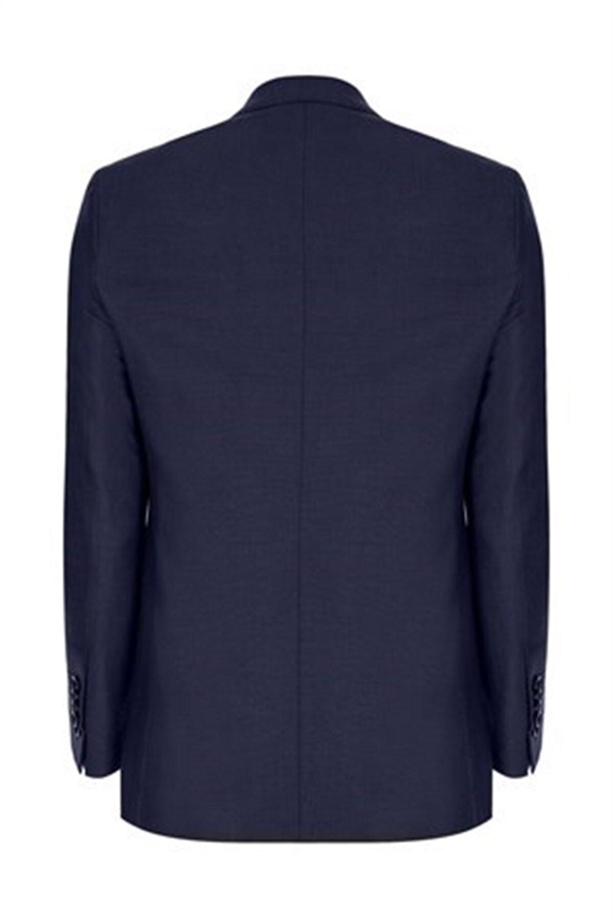İgs Erkek Lacivert Slım Fıt / Dar Kalıp Std Takım Elbise 2