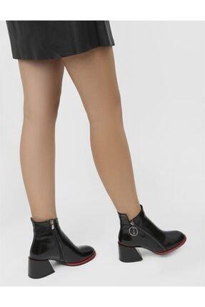 İLVİ Rita Kadın Topuklu Bot Siyah Rugan