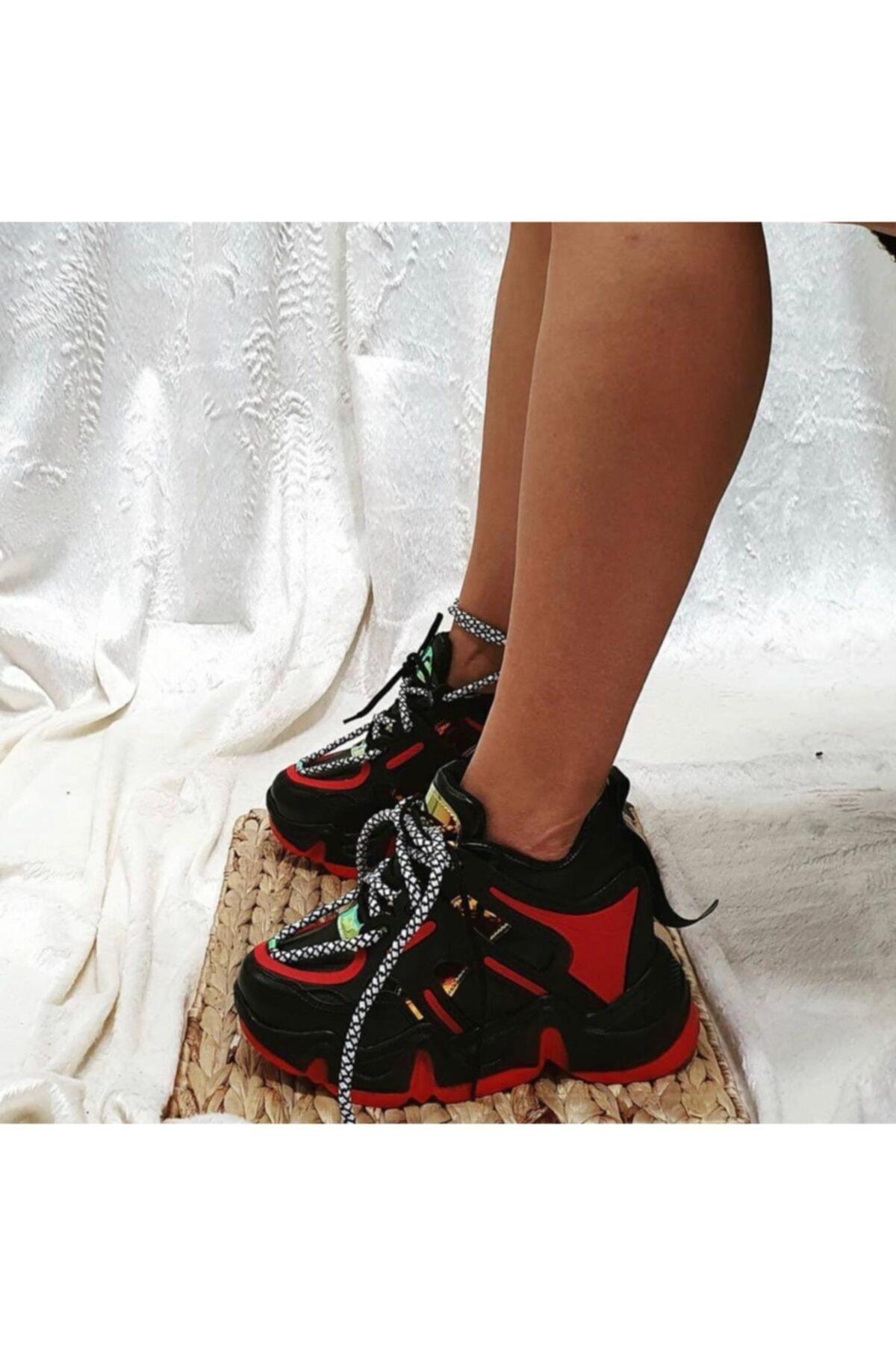 Shero shoes Kadın Siyah İçten Dolgulu Sneaker 1