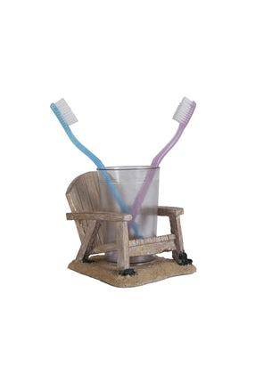 Bosphorus Diş Fırçalık,macunluk Sandalye Model Poliresin 13x11x10cm 200ml