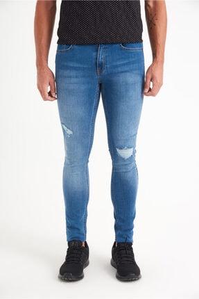 Avva Erkek Mavi Slim Fit Jean Pantolon A01y3570
