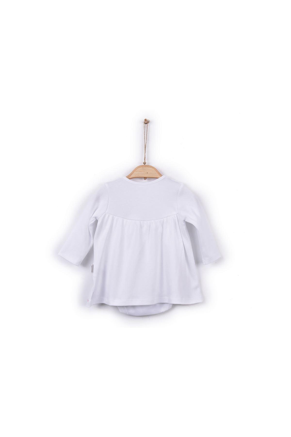 kitikate S30068 Kız Bebe Organik Dreams Jile Body - Çoraplı Beyaz 2