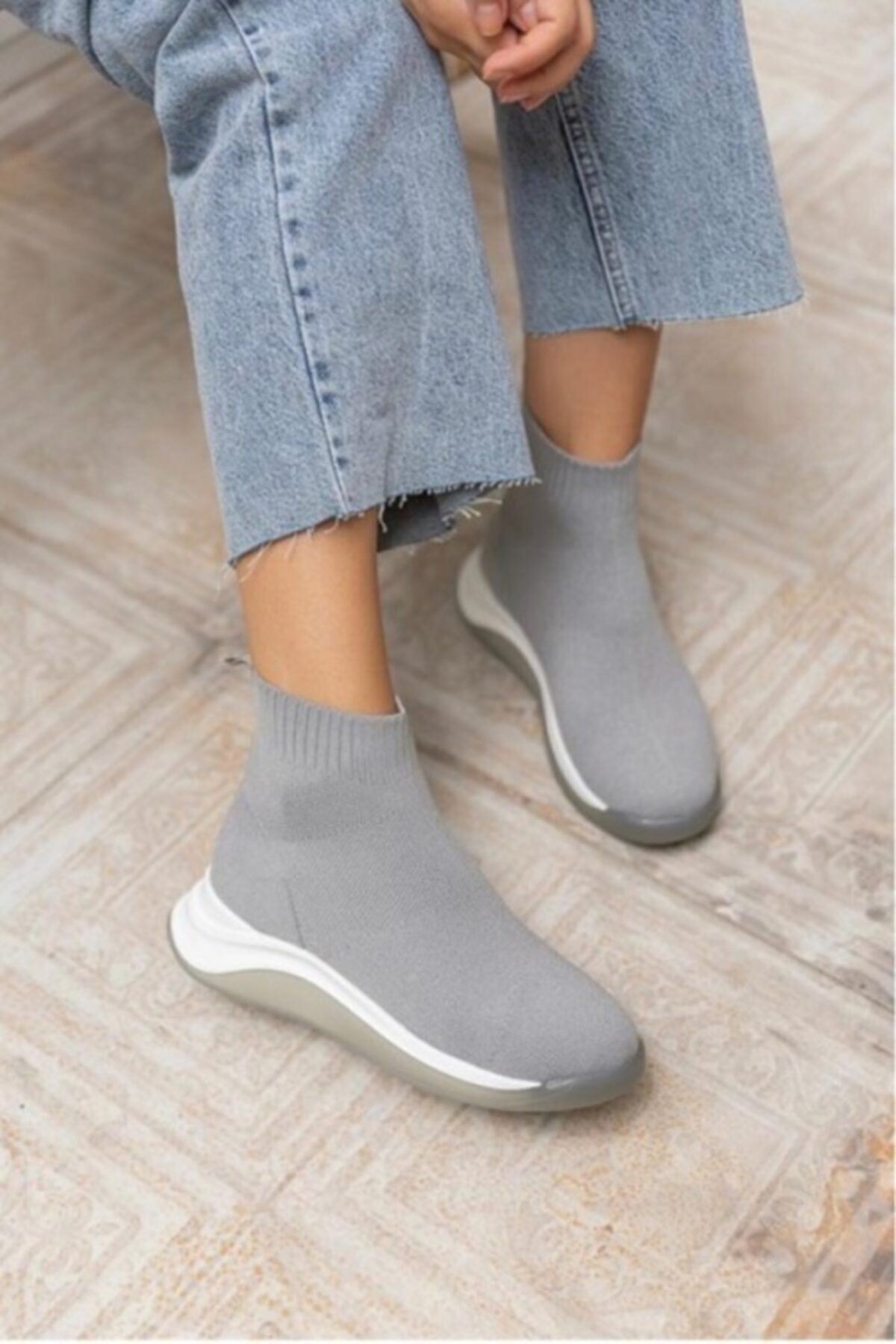 KİMİYA71 SHOES Kimiya71 Kadın Streç Triko Bot / Çorap Bot 2