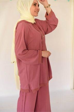 Loreen Tunik Pantolon Ikili Rose Takım