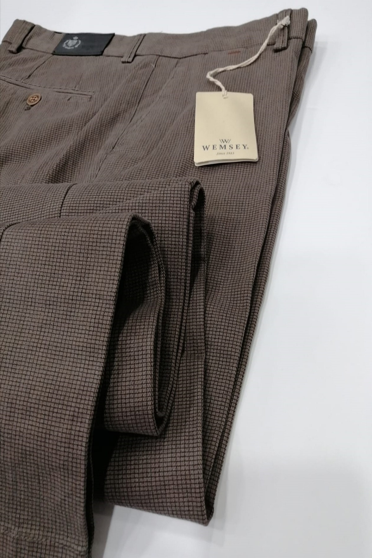 WEMSEY Regular Piti Kareli Kanvas Pantolon 1