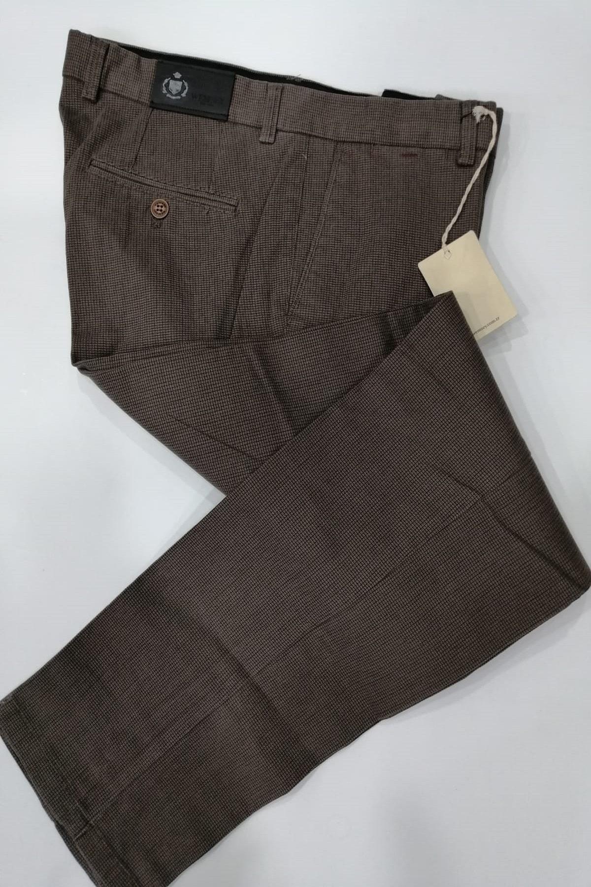 WEMSEY Regular Piti Kareli Kanvas Pantolon 2